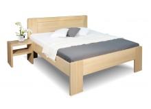 Zvýšená postel z masivu Dan, 120x200, 140x200, masiv buk