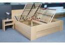 Zvýšená postel s úložným prostorem Dan, 160x200, 180x200, masiv buk