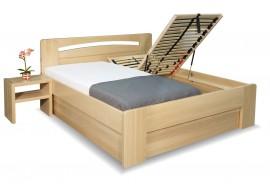 Zvýšená postel s úložným prostorem Riči, 160x200, 180x200, masiv buk