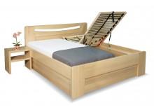 Zvýšená postel s úložným prostorem Carmen, 160x200, 180x200, masiv buk