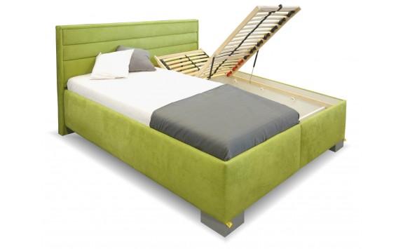 f233eed295bf Zvýšená čalouněná postel s úložným prostorem Rebeka de Luxe ...