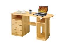 Psací PC stůl z masivu IA8843, masiv borovice