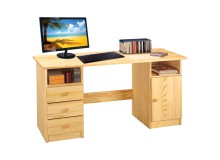 Psací PC stůl IA8847, masiv borovice