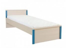 Dětská postel - jednolůžko LOZ/90, dub-modrá