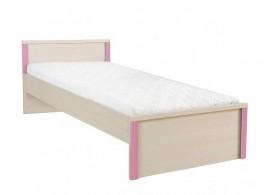 Dětská postel - jednolůžko LOZ/90 , dub-růžová