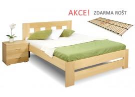 Jednolůžková postel s roštem Barča, 120x200, 140x200, masiv buk