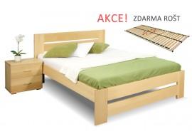 Jednolůžková postel s roštem Berni, 120x200, 140x200, masiv buk