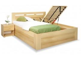 Vysoká postel s úložným prostorem Floria, 160x200, 180x200, masiv buk