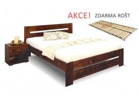 Jednolůžková postel s roštem Berni, 120x200, 140x200, masiv smrk