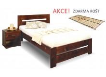 Jednolůžková postel s roštem Berni, 80x200, 90x200, masiv smrk