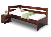 Zvýšená postel z masivu Valentin, 80x200, 90x200 cm - Levá