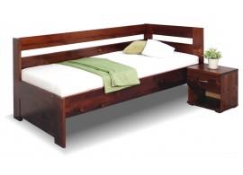Zvýšená postel z masivu Valentin, 90x200 cm - Pravá