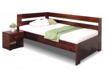 Zvýšená postel z masivu Valentin, 120x200 cm - Levá