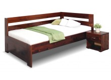 Zvýšená postel z masivu Valentin, 120x200 cm - Pravá