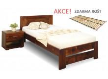 Jednolůžková postel s roštem Jirka, 80x200, 90x200, masiv smrk