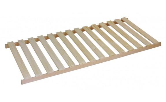 Pevný dřevěný laťový rošt v rámu 14L, masiv smrk