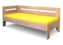 Zvýšená postel s bočnicí Erika, 90x200 cm - Levá