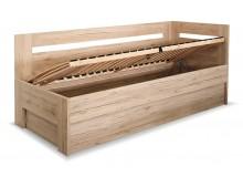Zvýšená postel s úložným prostorem Erika, 90x200 cm - Pravá