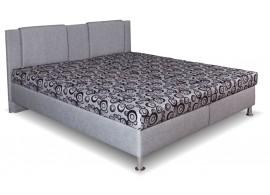 Čalouněná postel s úložným prostorem Klaudie, boční výklop