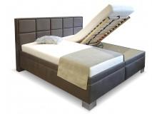Čalouněná postel s úložným prostorem Laura vario, čelní výklop
