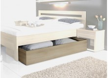 Úložný prostor pod postel 3/4, masiv buk cink jádrový