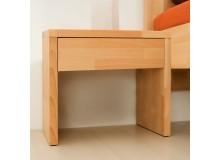 Noční stolek Klasik, masiv buk cink