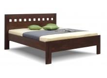 Zvýšená postel z masivu ELLA Mosaic, masiv buk cink