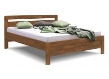 Zvýšená postel z masivu Karlo-oblé, masiv dub cink