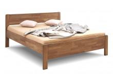 Zvýšená postel z masivu Sofi-oblá, masiv dub cink