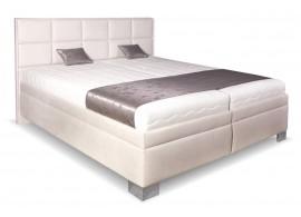 Čalouněná postel s úložným prostorem Laura White, čelní výklop