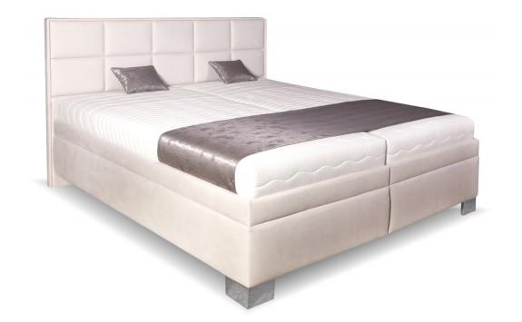 5420a5631e85 Čalouněná postel s úložným prostorem Laura White