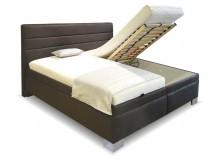 Čalouněná postel s úložným prostorem Imola vario, čelní výklop