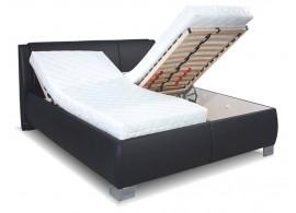 Čalouněná postel s úložným prostorem Serena vario, čelní výklop