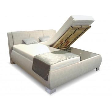 Čalouněná postel s úložným prostorem Norka vario, čelní výklop