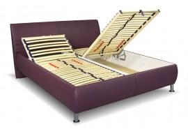 Čalouněná postel s úložným prostorem Megan vario, čelní výklop