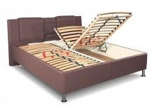 Čalouněná postel s úložným prostorem Sonata vario, čelní výklop