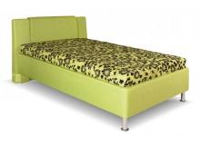 Čalouněná postel s úložným prostorem Monika, 110x200 cm, čelní výklop