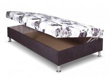 Čalouněná postel s úložným prostorem Katka, 90x200 cm, boční výklop