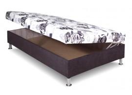 Čalouněná postel s úložným prostorem Katka, 110x200 cm, boční výklop