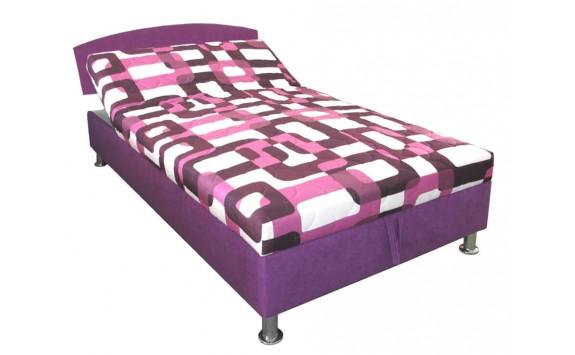 Čalouněná postel s úložným prostorem Zina, 110x200 cm, čelní výklop