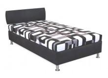 Čalouněná postel s úložným prostorem Tamara, 110x200 cm, čelní výklop
