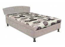 Čalouněná postel s úložným prostorem Gita, 140x200 cm, čelní výklop