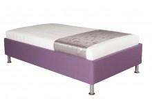 Čalouněná postel s úložným prostorem Leona vario, 90x200 cm, čelní výklop