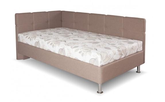 Čalouněná postel s úložným prostorem Patricie, 90x200 cm, boční výklop