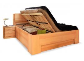 Manželská postel s úložným prostorem MANHATTAN 1. senior, masiv buk