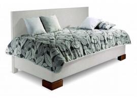 Čalouněná postel s úložným prostorem Quatro, dlouhé čelo