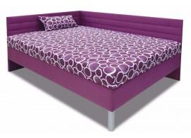 Vysoká čalouněná postel s čely a úložným prostorem Elite XXL, 140x200 cm