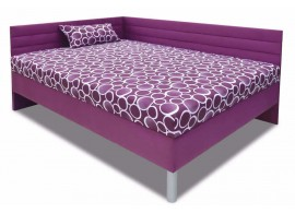 Vysoká čalouněná postel s čely a úložným prostorem Elite XXL, 110x200 cm