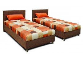 Čalouněná postel s úložným prostorem DUO
