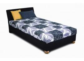 Zvýšená čalouněná postel s úložným prostorem ZAPA